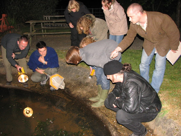 Survey session at Equine Pond, Hadlow College
